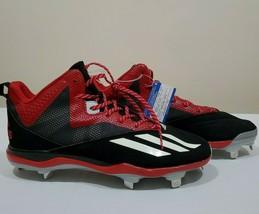 Adidas Men's Baseball Metal Cleats Sz 13.5  Litestrike Black Red NWT - $17.21