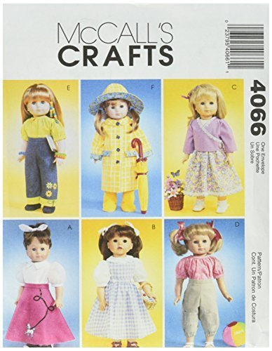 McCall's Patterns M4066 18-Inch Doll Clothes, One Size Only - $14.21