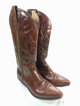 WOMENS COLE HAAN COUNTRY F2025 BROWN LEATHER COWBOY WESTERN BOOTS SZ 8 AA - $64.35
