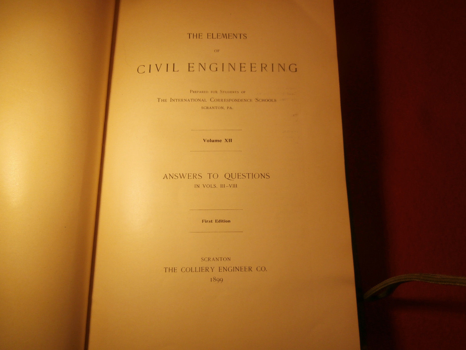 The Elements of Civil Engineering 1899 Leather Bound Book