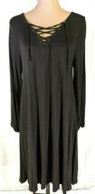 NWOT Old Navy dress LARGE Long Sleeve BLACK SOFT light weight NEW Pretty - $16.58