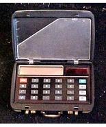 Solar Calculator in Atachae case & Business Card Holder - $9.50