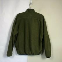 WoolRich Fleece Jacket Men's Medium Olive Green Full Zip Thick Fleece image 2
