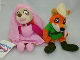"Disney Store Robin Hood And Maid Marian 8"" Plush Stuffed Animals NWT - $17.82"