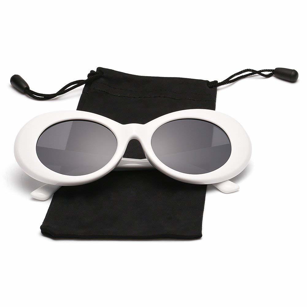 8bb4d8f9c07 Clout Goggles Kurt Cobain Sunglasses Oval Vintage Retro Bold Mod Shades