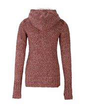 Bench Wolfster Red Knit Zip Up Sweater Hooded Jacket Hoodie image 9