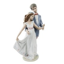 "Lladro #7642 ""Now and Forever"" Young Man & Woman Dancing with Flower Ret... - $213.84"