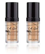 (2-Pack) L.A. Girl Pro Coverage Liquid Foundation, Natural 644 - $19.99