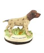 Vintage German Short-Haired Pointer Lint Brush Figurine Porcelain - $14.50