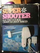 Wear-ever Super Shooter Electric Cookie, Canape' and Candy maker with idea book - $60.99