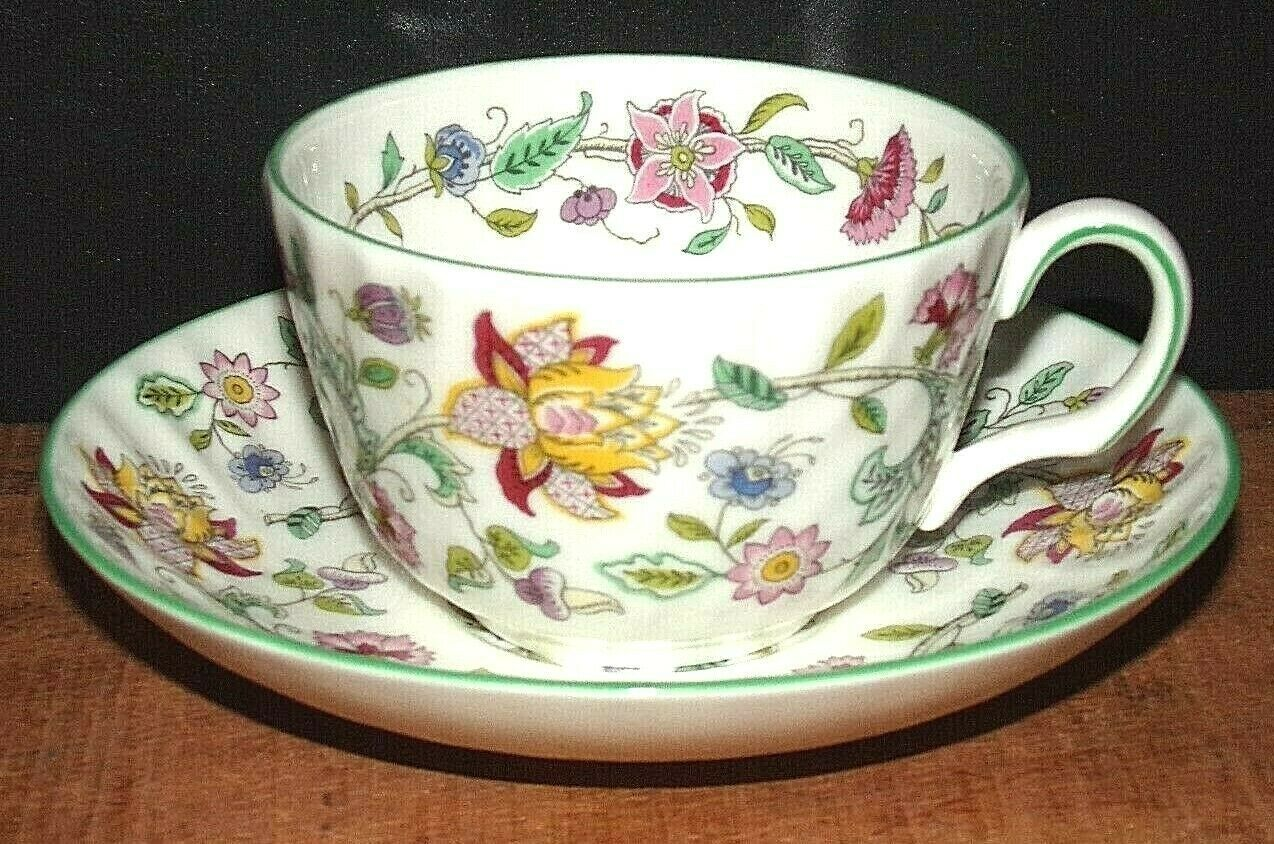 Primary image for MINTON Haddon Hall Bone China Tea Cup & Saucer/FLORAL  B-1451