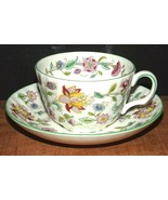MINTON Haddon Hall Bone China Tea Cup & Saucer/FLORAL  B-1451 - $18.32