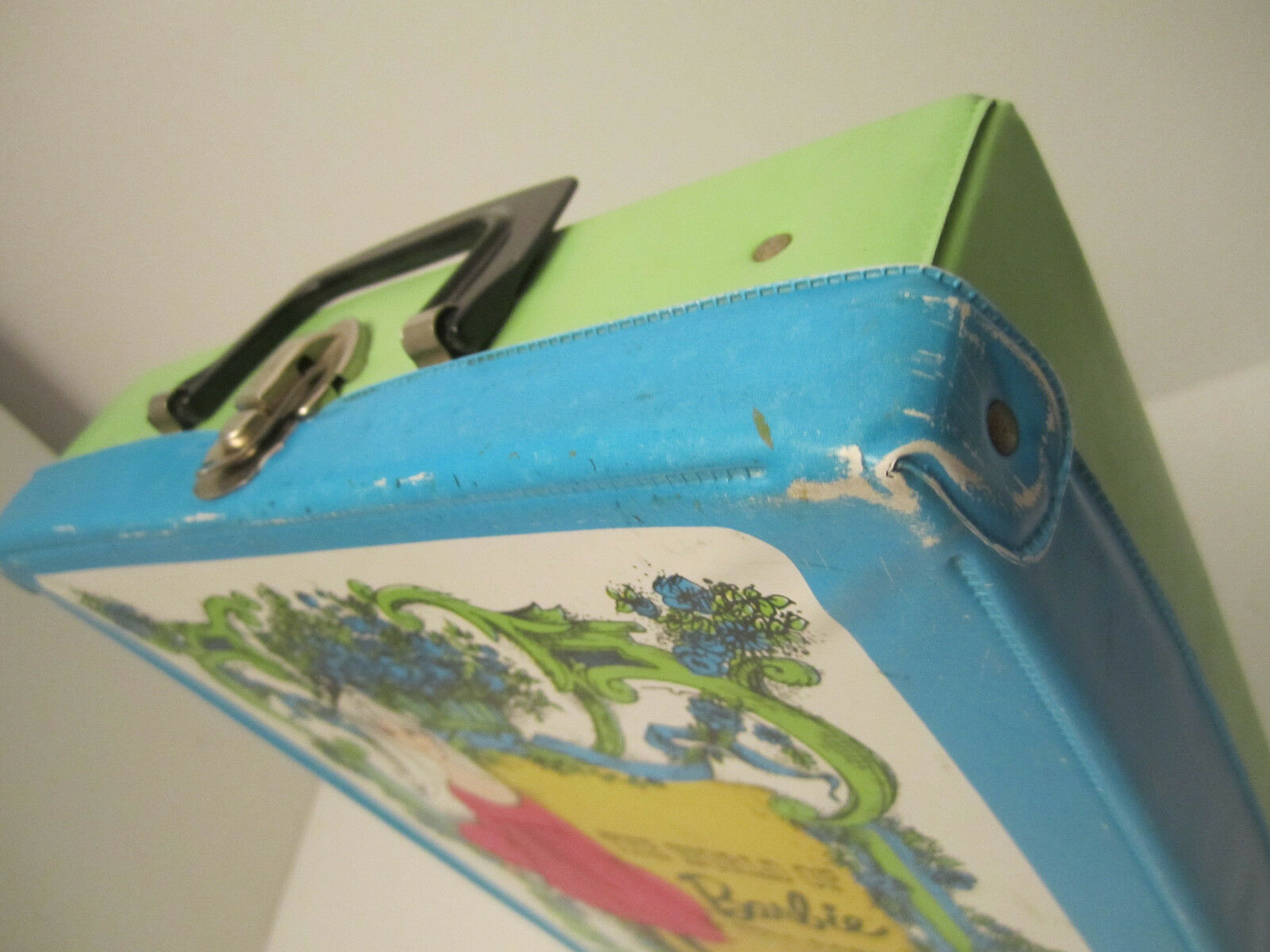 The World Of Barbie Doll Case 1002 Blue Vintage 1968 Doll Carrying Case image 8