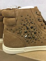 UGG Australia GRADIE DECO STUDS LEATHER Chestnut HIGH TOP SNEAKERS 1013911 image 6