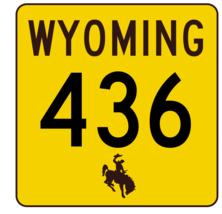 Wyoming Highway 436 Sticker R3545 Highway Sign - $1.45+