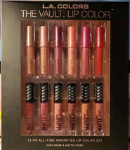 L.A. COLORS MATE LIQUID LIP COLOR 12 PC ALL TIME FAVORITES (LOC TUB E-4) - $14.01