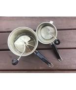 2 Vtg Foley Food Mill Black Handle Knob Potato Ricer Grater Masher Stain... - $21.77