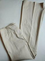 Ann Taylor Lindsay Dress Pants Womens Size 4 Satin Beige Trouser Flared ... - $25.74