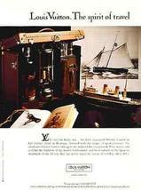 Louis Vuitton AD Spirit of Travel Clipper Ship Ocean Liner Whiskey Case 1993 Nau - $10.99