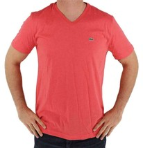 Lacoste Men's Athletic Cotton V-Neck  T-Shirt Santal image 2