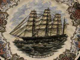 Churchill Currier And Ives Collectors Plate GREAT REPUBLIC Tall Ship - $7.99