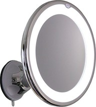 10X Magnifying Lighted Makeup Mirror With Chrome Finish Locking Suction ... - $37.42
