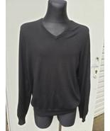 Ralph Lauren Black Label Italy Black Pure Cashmere V Neck Sweater XL - $148.50