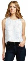 Junior Womens Clothing  Organza Shell Loose Fit Crop Top Size Small White - $19.79