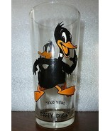 GLASS 1973 Looney Tunes DAFFY DUCK Pepsi Collectors Series Blk Lettering... - $20.79