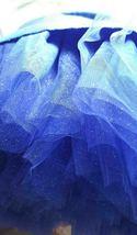 Cobalt Blue Midi Tulle Skirt Blue High Waist Ballerina Skirt Petticoats Plus NWT image 6