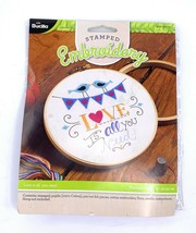 Bucilla Stamped Embroidery Kit 8in Love is all you need WM47643E - $10.88