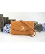 Tory Burch Kira Squash Chevron Quilted Leather Chain Wallet Crossbody Ba... - $237.11