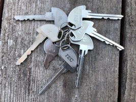 Lot 7 Vtg. TEC Cash Register Keys AZ08 OP X Ma 410 - $29.65