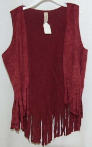 Pomelo Maroon Fringed Size Small Vest Made In The USA