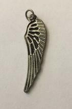 """Vintage Necklace Pendant Wong Silver Metal 1 3/4"""" H C 1/2"""" W - $3.66"""