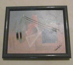 Vintage Diana Martin Abstract Acrylic Collectible Oil Painting, Hand Sig... - $65.99