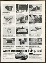 1979 A&E Systems RV and Van Accessories PRINT AD We're Into Outdoor Livi... - $10.89