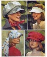 Simplicity 6430 Misses Hats, Vissor, Cap Sewing Pattern Vintage 1974 - $22.76