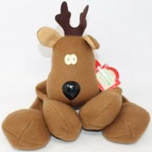 Vintage Hallmark Rodney Reindeer Christmas Plush with Tag - $13.09