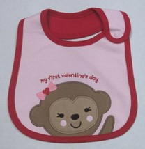 Carter's Valentine's Bib for Girls My First Valentine's Monkey - $8.00