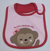 Carter's Valentine's Bib for Girls My First Valentine's Monkey - $8.00