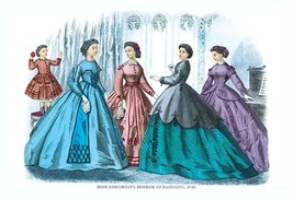 Mme. Demorest's Mirror of Fashions, 1840 #5 - Art Print - $19.99+