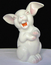 "Vintage Rosenthal Porcelain Laughing Bunny Pink Tinted 5 1/2"" Germany 19... - $40.00"