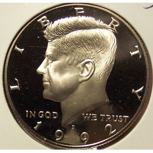 Primary image for 1992-S Deep Cameo Clad Proof Kennedy Half Dollar #0980