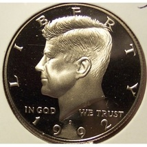 1992-S Deep Cameo Clad Proof Kennedy Half Dollar #0980 - $5.99
