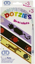 "Diamond Dotz DOTZIES Bracelets Facet Art Kit 1""X9""-Assorted Pets 3/Pkg - $15.67"