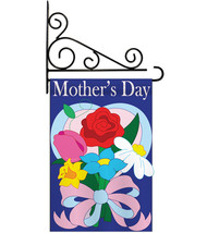 Mother's Day - Applique Decorative Metal Fansy Wall Bracket Garden Flag ... - $29.97