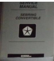 1999 Chrysler Sebring Convertible Service Shop Repair Manual Oem 99 Factory Book - $54.44