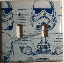 Star Wars White Stormtrooper Trooper Switch Outlet wall Cover Plate Home Decor image 4