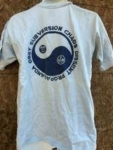 Obey Subversion Chaos Hellblau Kurzärmelig Hemd M - $13.84